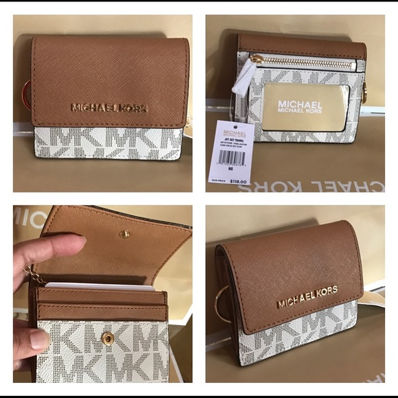248222a86872 MICHAEL KORS SIGNATURE JETSET CARD CASE ID Holder.  M_5a5ed7589d20f05c74cc0445
